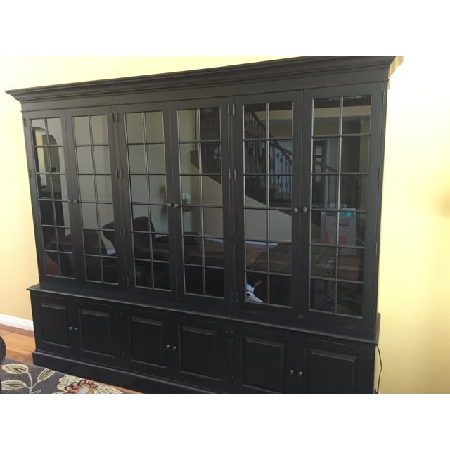 Black Ethan Allen Villa Triple Bookcase - Image 3 of 8