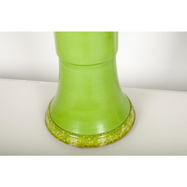 Pair of Green Porcelain Task Lamps For Sale - Image 9 of 10