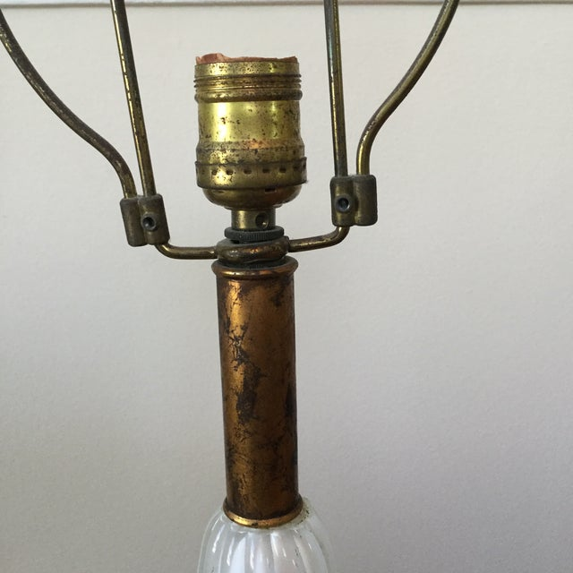 Vintage Barovier & Toso Murano Seguso Milkglass Lamps - a Pair For Sale - Image 11 of 12
