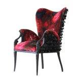 """Image of Upholstered velvet """"Rosella"""" armchair For Sale"""