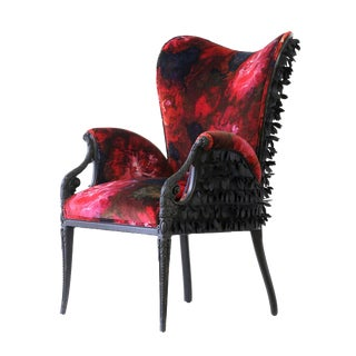 "Upholstered velvet ""Rosella"" armchair For Sale"