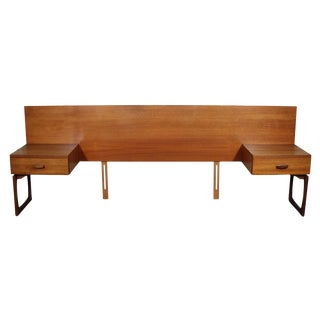 Mid Century Teak Queen Size Headboard by G Plan For Sale