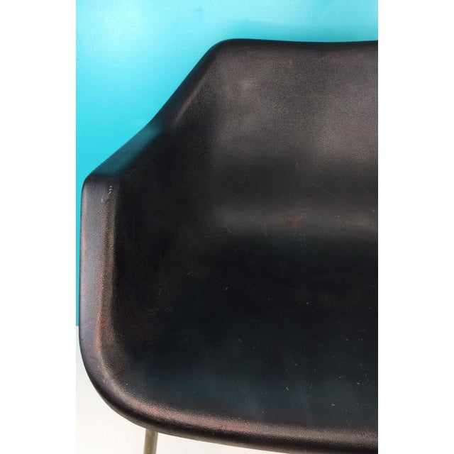 Vintage 1960's Robin Day Polypropylene John Stuart Black Shell Chair This is the perfect accent chair for any room! The...