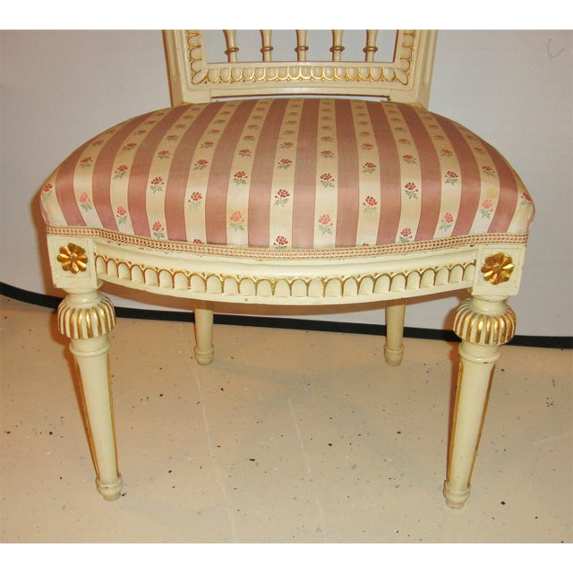 Gold Jansen Style Side Chairs - Pair For Sale - Image 8 of 10