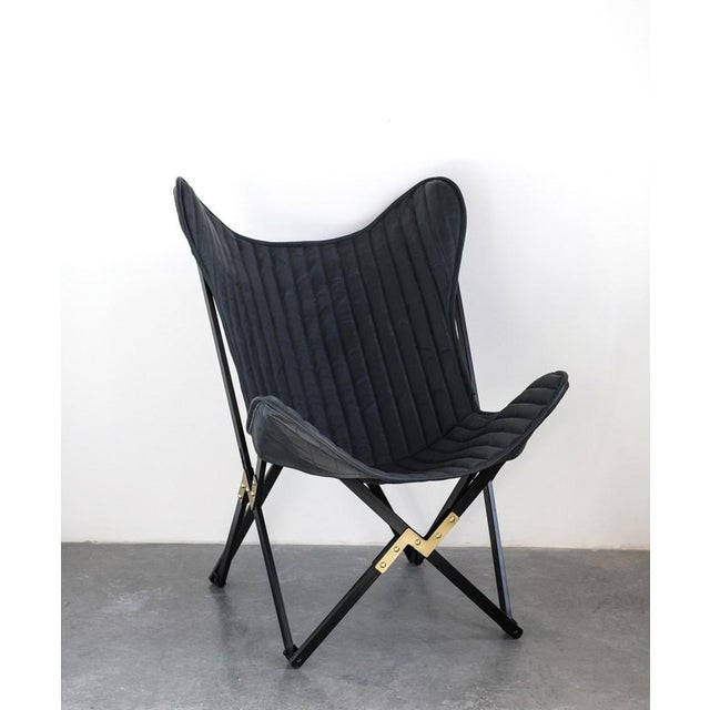 Leather Butterfly Chair For Sale - Image 4 of 6