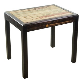Reclaimed Wood Side Table For Sale
