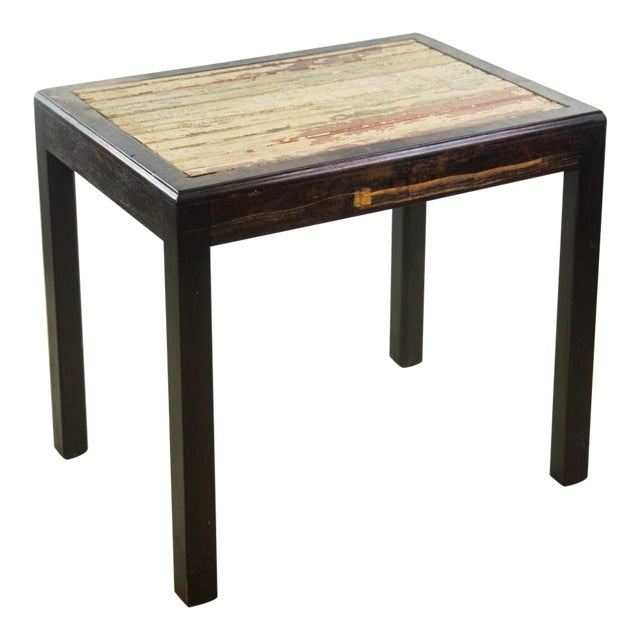Rustic Reclaimed Wood Side Table For Sale