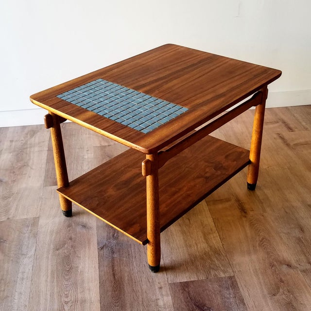 1960s Lane Side Table With Mosaic Tile Inlay For Sale - Image 13 of 13