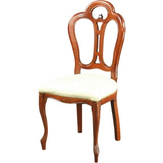 Large Italian Rococo Mahogany Dining Chair For Sale