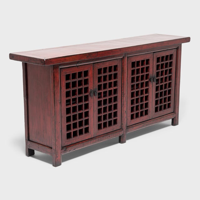 Early 21st Century Chinese Courtyard Lattice Coffer For Sale - Image 5 of 9