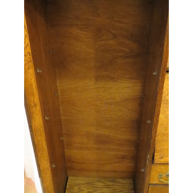 Oak Secretary Curio Cabinet For Sale - Image 10 of 11