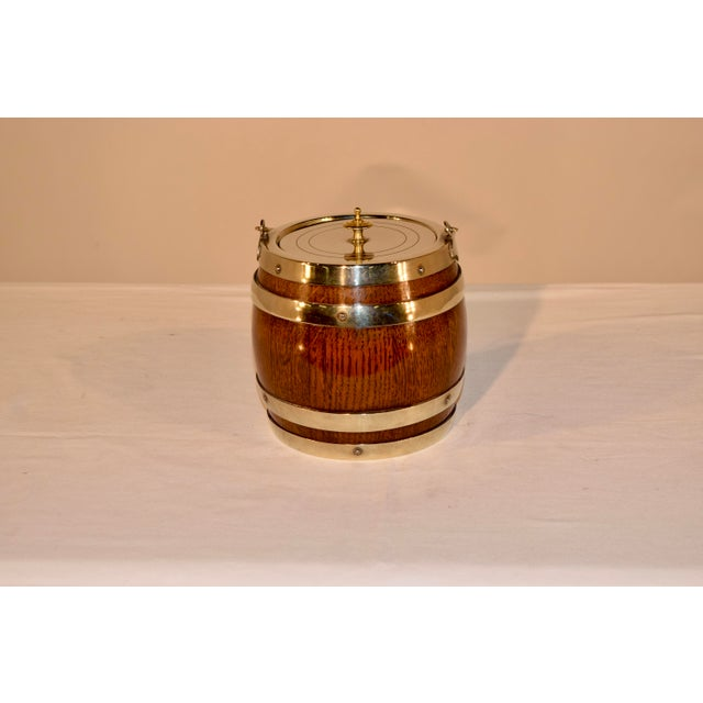 English Silver Plated Biscuit Barrel, Circa 1900 For Sale - Image 4 of 7