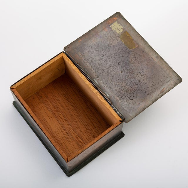 Handmade Copper Box With Painted Geometric Pattern by Craftsman Studios For Sale - Image 10 of 11