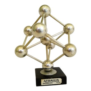Space Age Modern Brussels 1958 Atomium World Fairs Souvenier For Sale