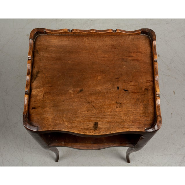 Brown 1930s French Louis XV Style Walnut Side Table For Sale - Image 8 of 9