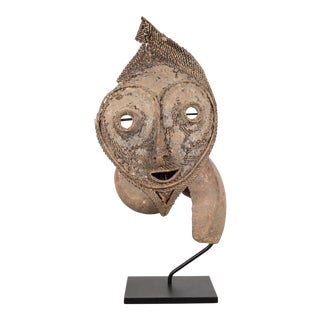 Early 20th C. Custom Mounted Papua New Guinea Talipun Mask For Sale