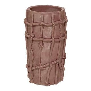 Contemporary Pillar Grid Vase For Sale