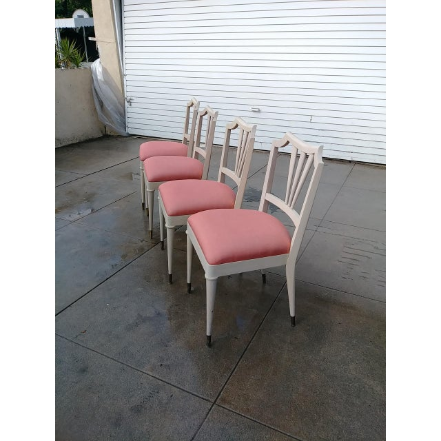White 1930s Vintage Paul Frank Dinning Chairs- Set of 4 For Sale - Image 8 of 13