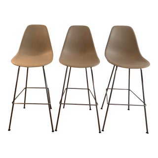 Design Within Reach Eames® Molded Plastic Bar Stools - Set of 3 For Sale