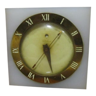 Telechron Mid Century Lucite Floating Clock For Sale