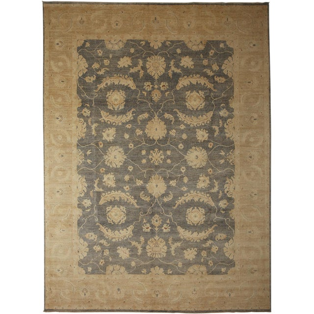 "Oushak Hand Knotted Area Rug - 9'3"" X 12'2"" For Sale"