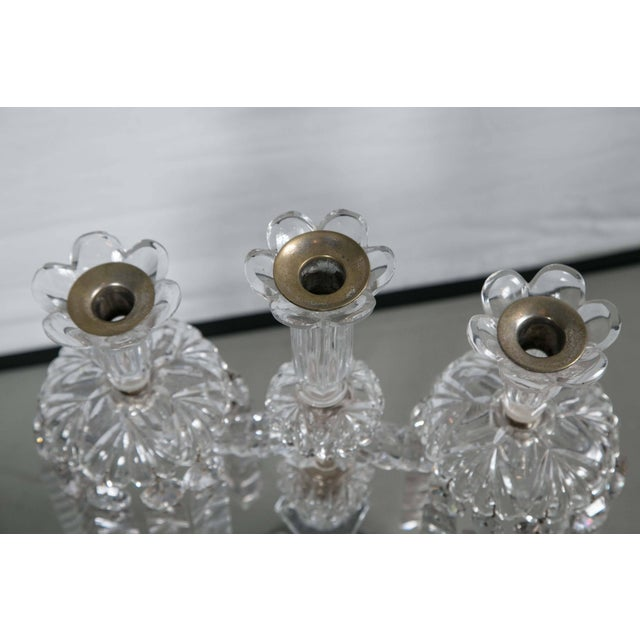Waterford Mid-Century Crystal Candleholders - a Pair For Sale - Image 4 of 9