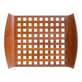 Dansk Teak Tray Lattice Trivet Large Jens Quistgaard Danish Modern