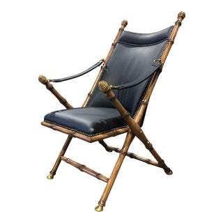 Italian Brass & Bamboo Campaign Armchair