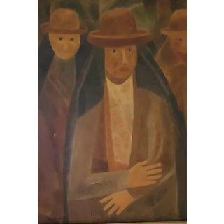 Mid-Century Oil Painting by Mahire Barrientos Peru Signed 1968, Unframed For Sale