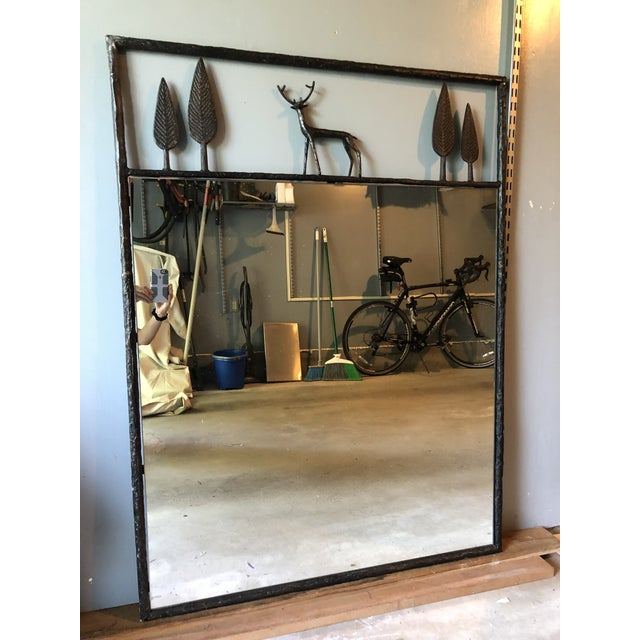 Adirondack Carole Gratale Giacometti-Inspired Stag Mirror For Sale - Image 3 of 4