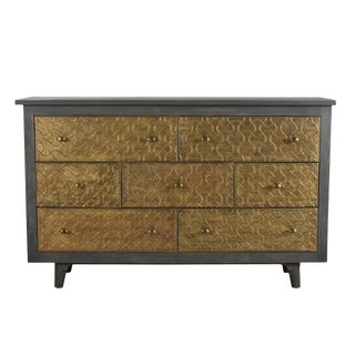 Contemporary Mango Wood 7 Drawer Dresser