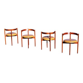 1950s Scandinavian Modern Hugo Frandsen Dining Chairs - Set of 4 For Sale