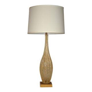 Mid-Century Barovier e Toso Fluted Murano Lamp For Sale