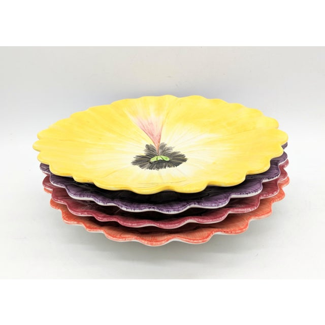 Gorgeous set of hand-painted pansy plates. Perfect for a luncheon, tea or shower. Would also make a great gift. Made by...