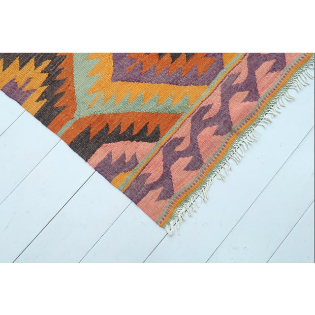 Mid 20th Century Vintage Turkish Barak Nomad's Flat Weave Rug For Sale - Image 5 of 12