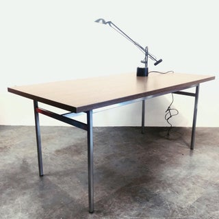 1960s Mid-Century Modern Knoll Associates Stainless Steel Frame Writing Desk Preview