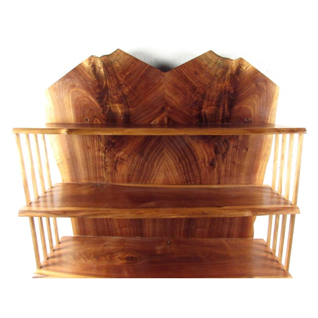 Late 20th Century Modern Live Edge Wall Shelf After George Nakashima For Sale - Image 5 of 13