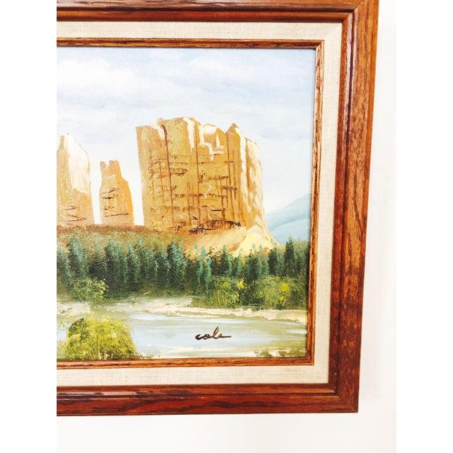 Vintage Southwestern Landscape Oil Painting For Sale - Image 4 of 5