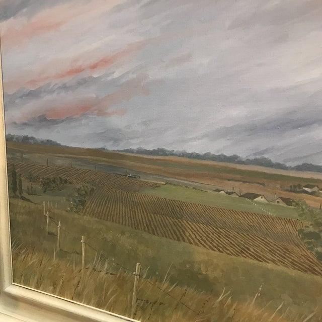 1985 McGuinnis Fall Fields Acrylic Painting For Sale - Image 4 of 6