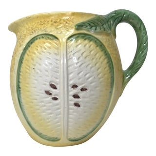Vintage, French, Faience Lemon Pitcher For Sale