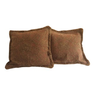 1980s Spanish Colonial Luxurious Euro Pillow Covers - a Pair For Sale