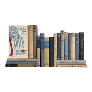 Denim & Flax Pocket-Sized Decorative Books - Set of 20