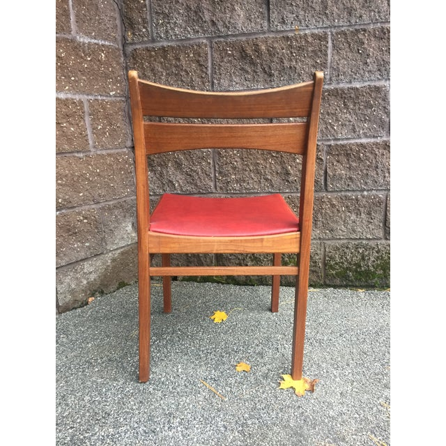 Vintage Mid-Century Danish Teak Dining Chairs- Set of 8 For Sale - Image 4 of 9