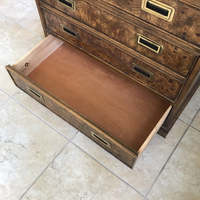 Drexel Heritage Burl Cabinet For Sale In Houston - Image 6 of 11