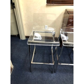 Cb2 Chiaro Clear Bar Stools- Set of 4 Preview