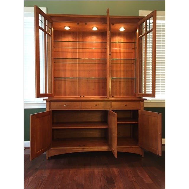 Stickley Harvey Ellis Cherry Buffet & China Hutch - Image 4 of 9