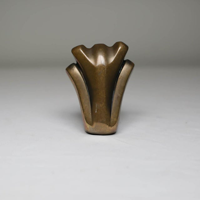 ABOUT This is an original bronze, abtract bronze figure signed and numbered by Tom Bennet. The piece has retained its...