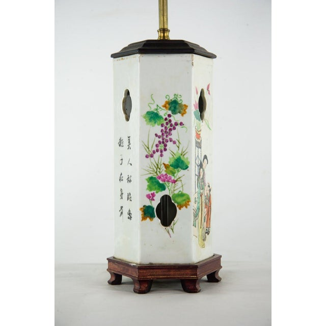 Blue Chinoiserie Ginger Jar Table Lamp For Sale - Image 8 of 13