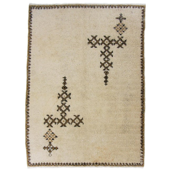 "Moroccan Beni Ourain Carpet - 5'5"" X 7'3"" - Image 1 of 5"