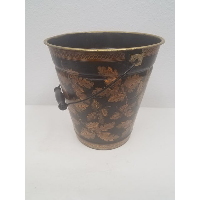 English Antique Bucket / Pail With Decoupage Leaves - Found in Southern England For Sale - Image 12 of 12